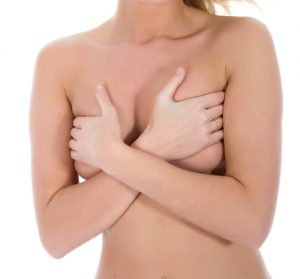 Woman Holding Breasts