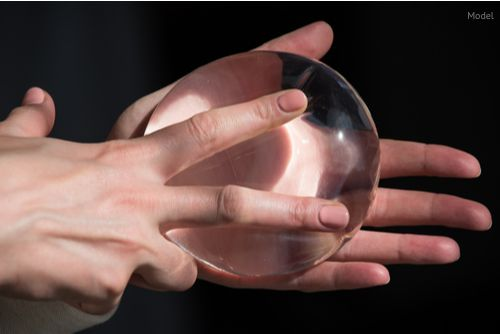 reliability of silicone breast implant, used in plastic surgery to increase or enhance sexuality, aesthetic appeal of forms