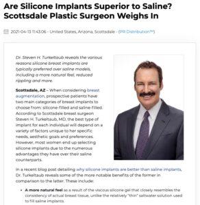 Dr. Steven Turkeltaub compares silicone versus saline breast implants.